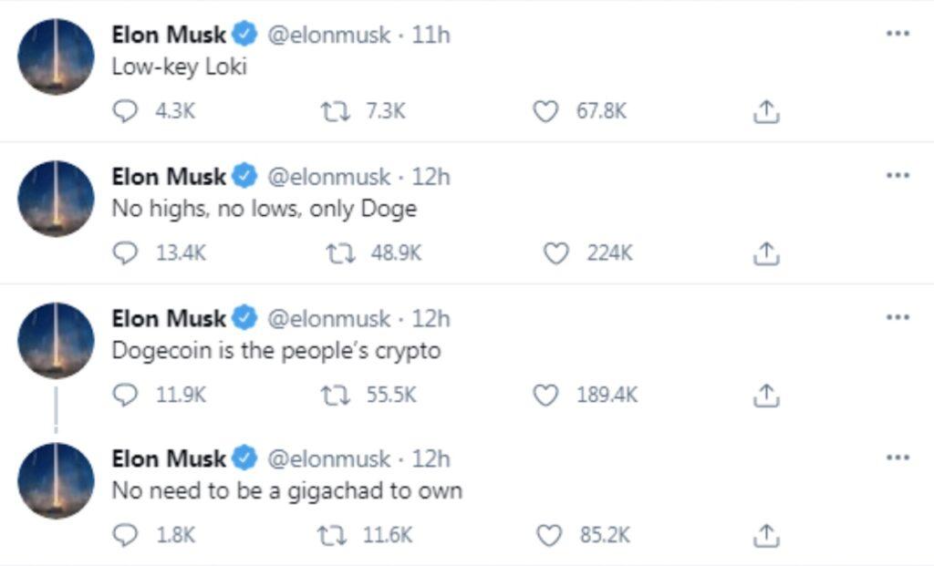 Elon Musk's Doge tweet