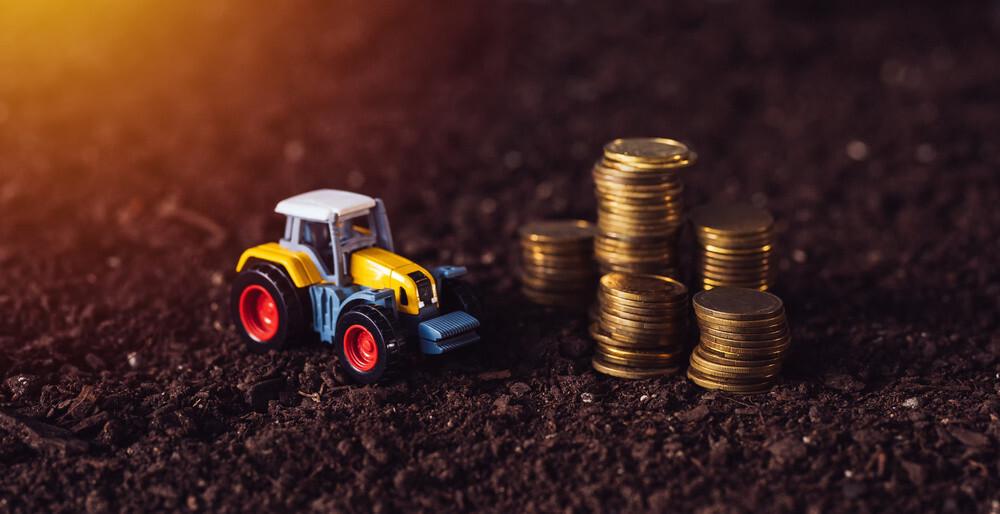 Yield farming in decentralized finance ecosystem.