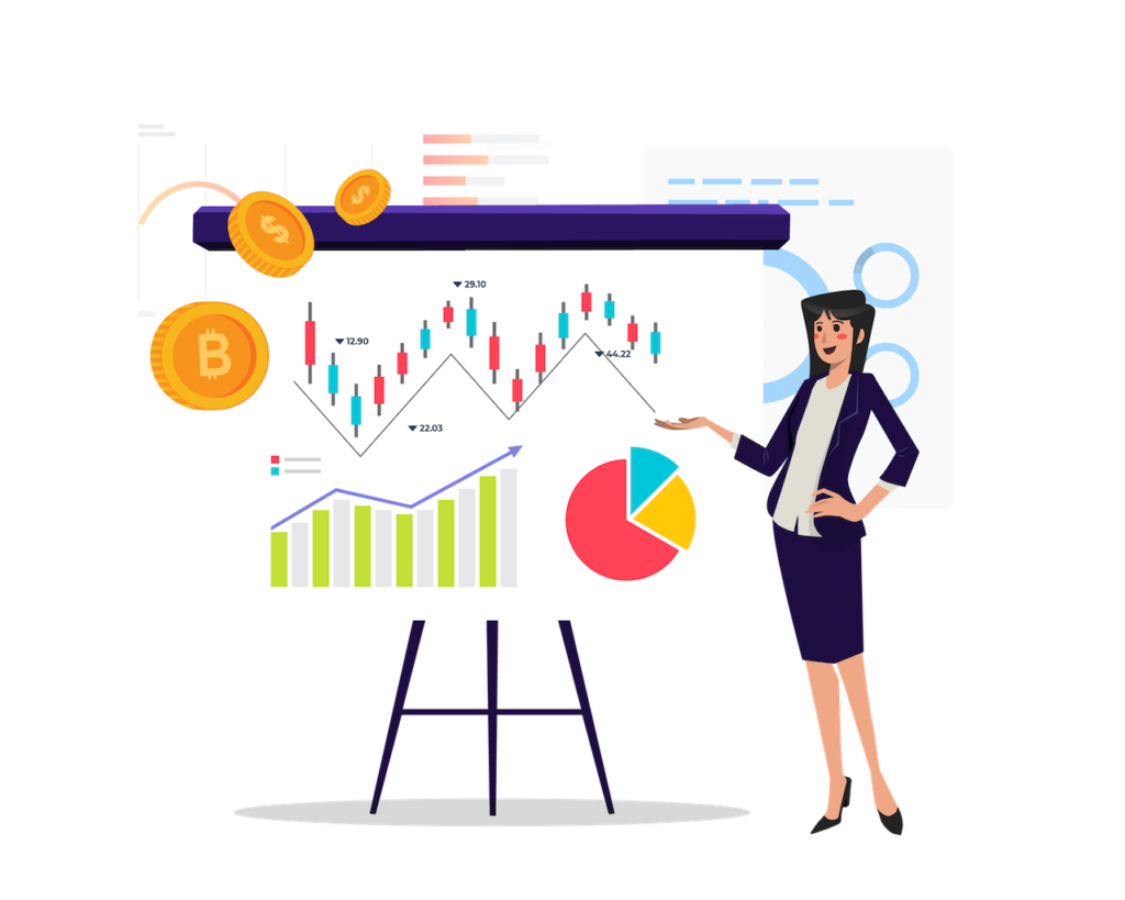 Trading risk management introduction vector art
