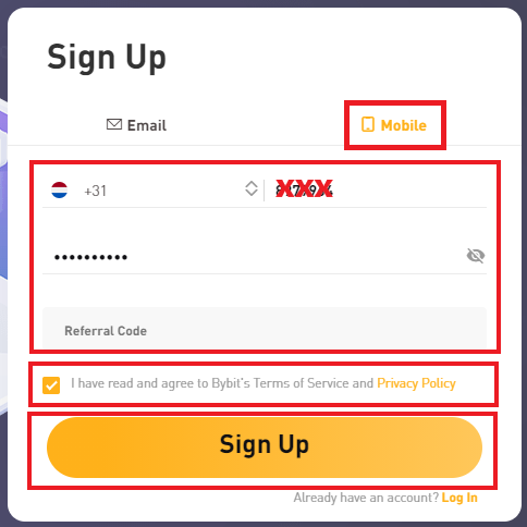Bybit app sign up