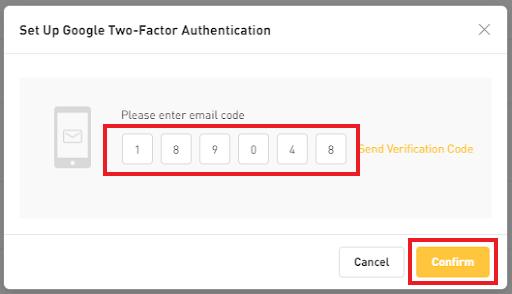 Google 2FA verification