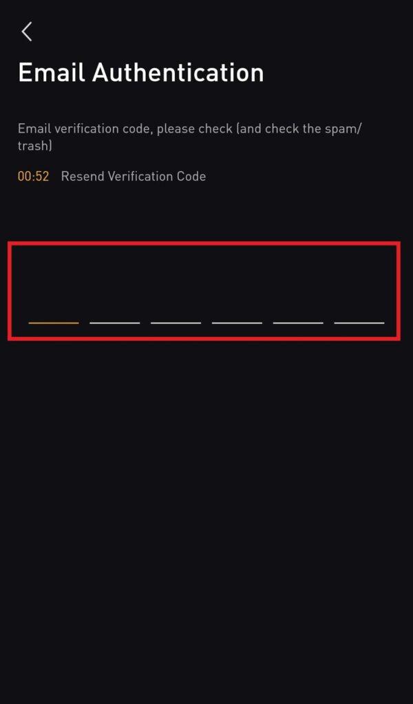 Bybit app email authentication