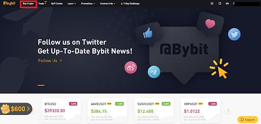 Click on Buy Crypto