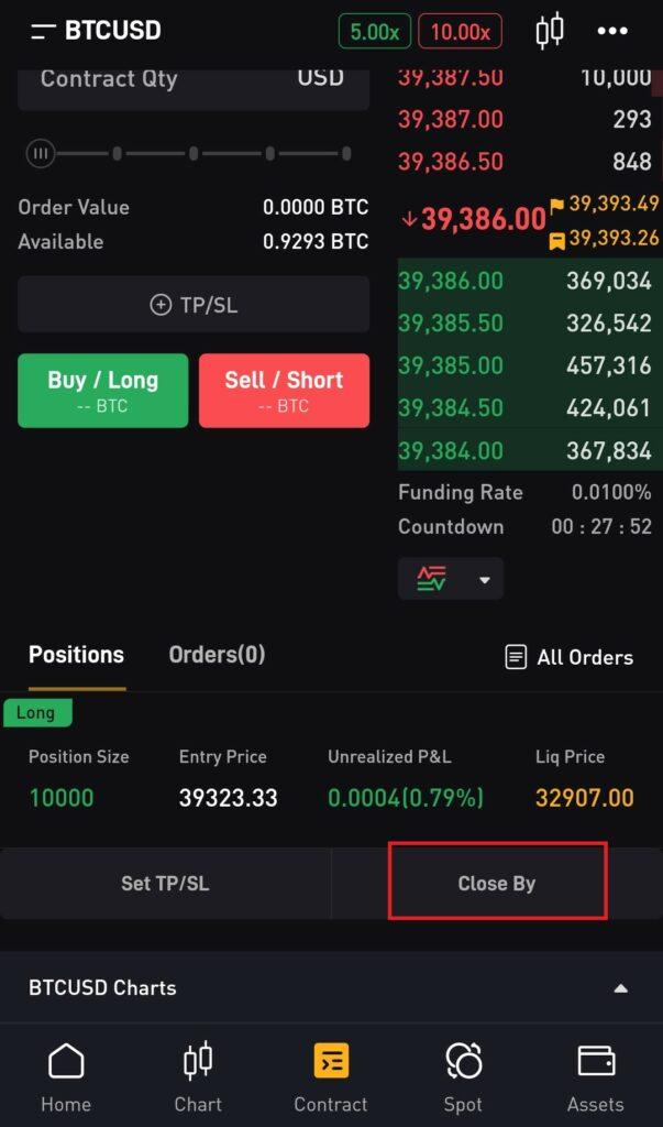 close trade on bybit app