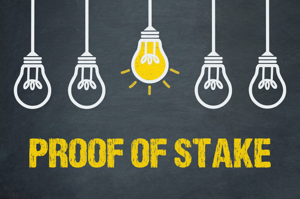 Proof of stake.